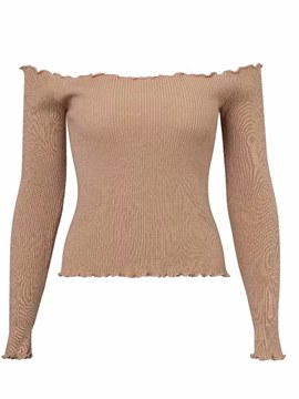 Ericdress Thin Plain Long Sleeves Knitwear