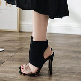 Ericdress Suede Ankle Strap High-Cut Stiletto Sandals