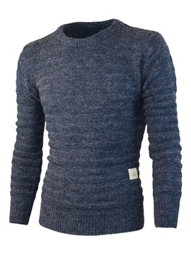 Ericdress Plain Scoop Loose Mens Pullover Casual Sweater
