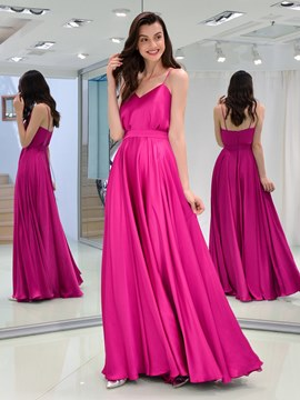 Ericdress A Line Spaghetti Straps Long Prom Dress