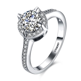 Ericdress Four Claw Classical Diamante Wedding Ring