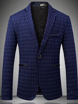 Ericdress Plaid One Button Slim Fitted Mens Casula Business Blazer