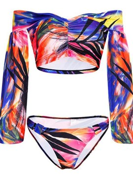 Ericdress trumpet Camouflage Fashion Tankinis