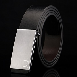 Ericdress Men's Smooth Buckle Leather Belt