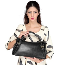 Ericdress Leather Half Moon Soft Handbag