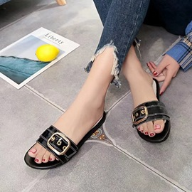 Ericdress Buckle Slip-On Flip Flop Mules Shoes