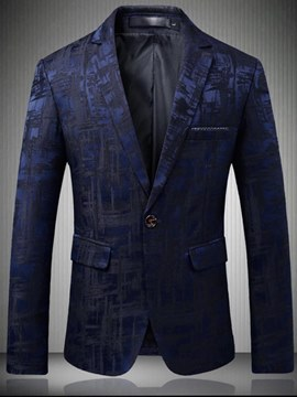 Ericdress Printed Slim Fitted Notched Lapel Mens Ball Casual Blazer
