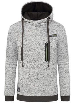 Ericdress Plain Hooded Pullover Straight Mens Casual Hoodies