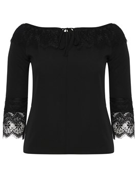 Ericdress Tie Front Patchwork Lace-Up Long Sleeve Plus-Size Womens T Shirt