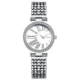 Ericdress Steel Belt Quartz Diamante Waterproof Watch For Women
