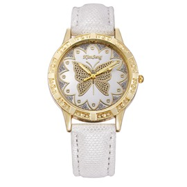 Ericdress Petal Butterfly Pattern PU Band Waterproof Watch For Women