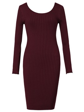 Ericdress Knee-Length Plain Bodycon Women's Dress