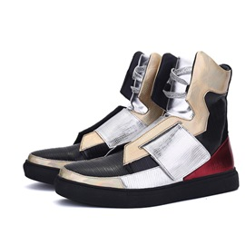 Ericdress Fashion Color Block High-Cut Men's Sneakers