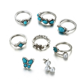Ericdess Kallaite Rings Set