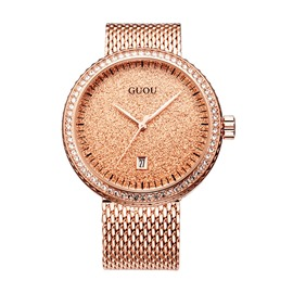 Ericdress Full Gems Round Dial Watch For Women/Men