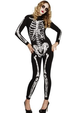 Ericdress Skull Cosplay Witch Zombie Halloween Costume