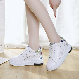 Ericdress PU Hollow Platform Print Lace-Up Women's Sneakers