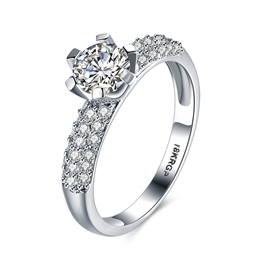 Ericdress Six Claw Shining Diamante Wedding Ring