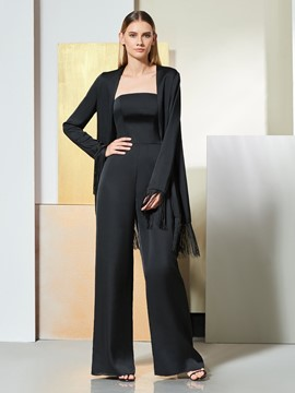 Ericdress Sheath Long Sleeve Black Evening Jumpsuits