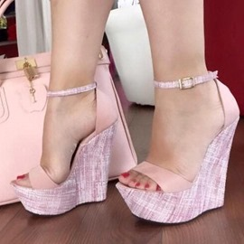 Ericdress Plain Heel Covering Platform Wedge Sandals