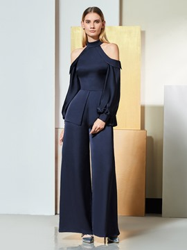 Ericdress Long Sleeve Open Shoulder Evening Jumpsuits