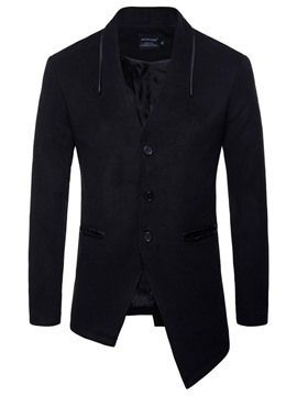 Ericdress Plain Asymmetric Slim Fit Mens Casual Jacket Blazer