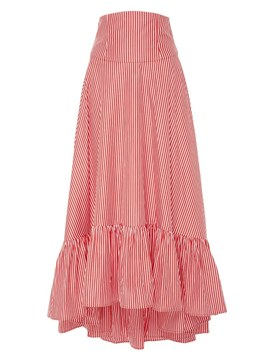 Ericdress Ruffles Stripe A-line Women's Skirt