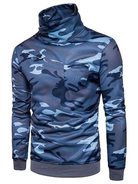 Ericdress Camouflage Stand Collar Pullover Mens Casual Hoodies