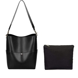 Ericdress Plain Magnetic Snap Interior Compartment Shoulder Bag