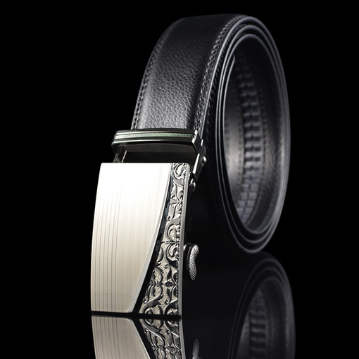 Ericdress Bussiness Carving Leather Men's Belt