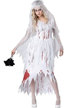 Ericdress Asymmetric Milk Fiber Female Ghost Costume