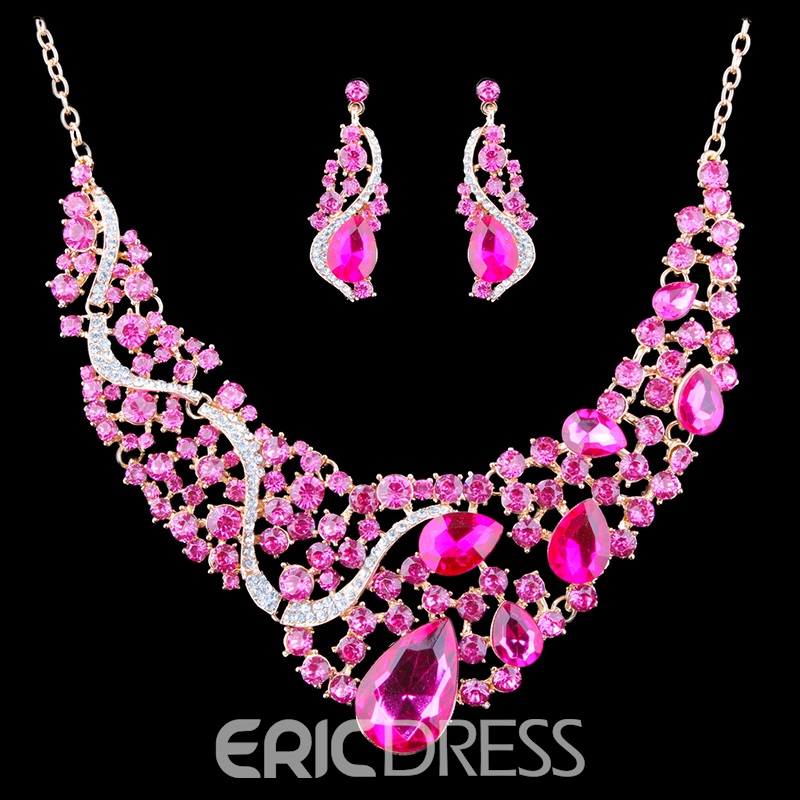 Ericdress Luxurious Colorized Gems Jewelry Set
