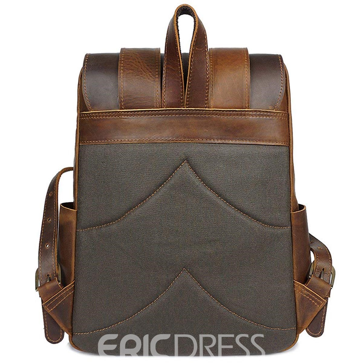 Ericdress Plain Zipper Soft Backpack