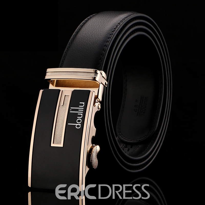 Ericdress Natural Leather Golden Men's Belt