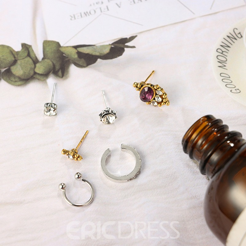 Ericdress Retro Style Gems Fashion Earrings