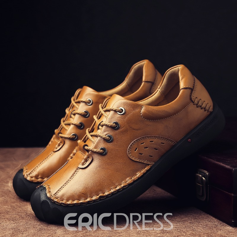Ericdress Plain Sewing Thread Lace-Up Men's Shoes