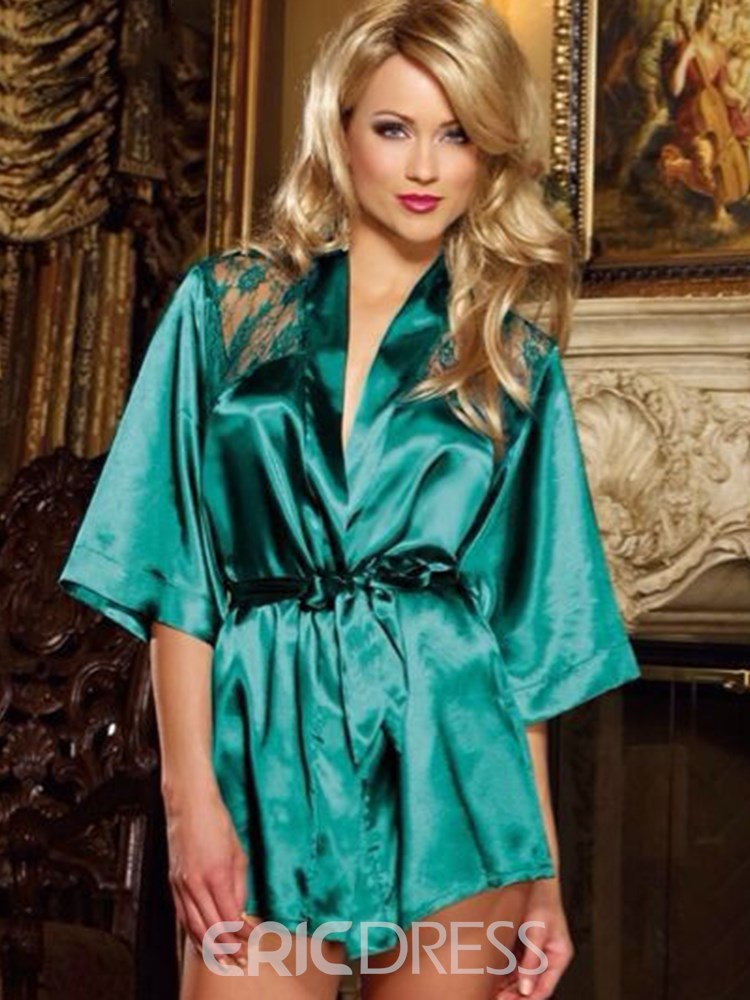 Ericdress Back See-Through Lace-Up Robe