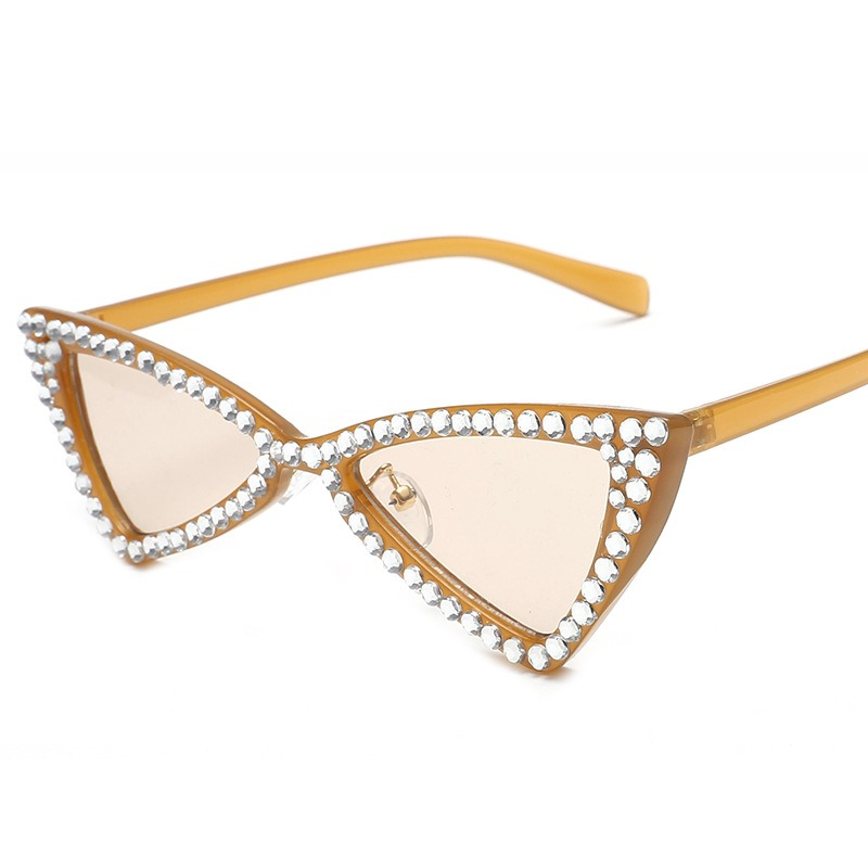 Ericdress Triangle Diamante Bowknot Sunglasses