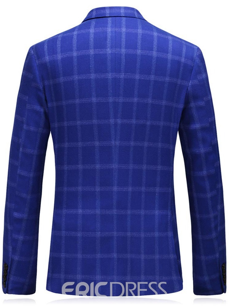 Ericdress Plaid Blazer Men's Dress Suit