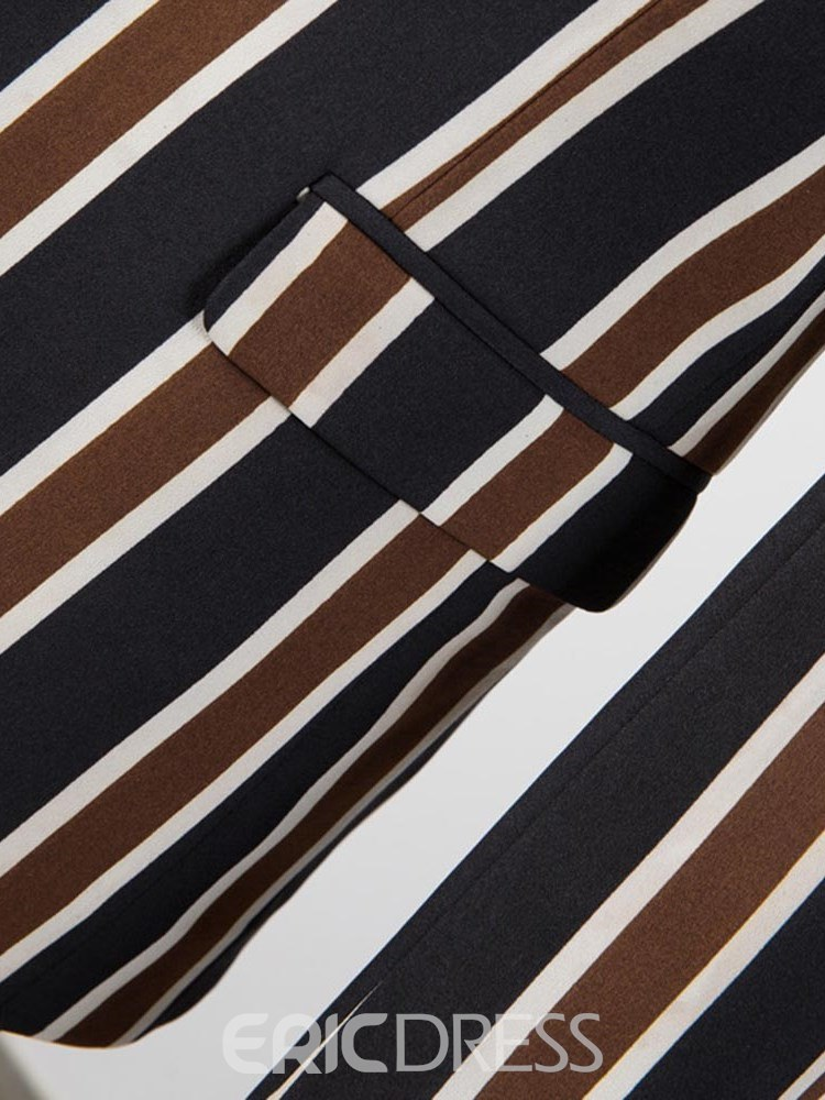 Ericdress Striped Color Block 3 Pieces Mens Casual Ball Suits