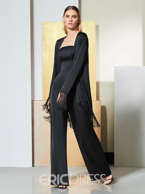 Ericdress Sheath Empire Long Sleeve Black Jumpsuit