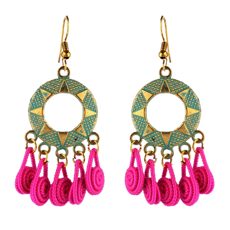 Ericdress Round Hollow Out Drop Earrings
