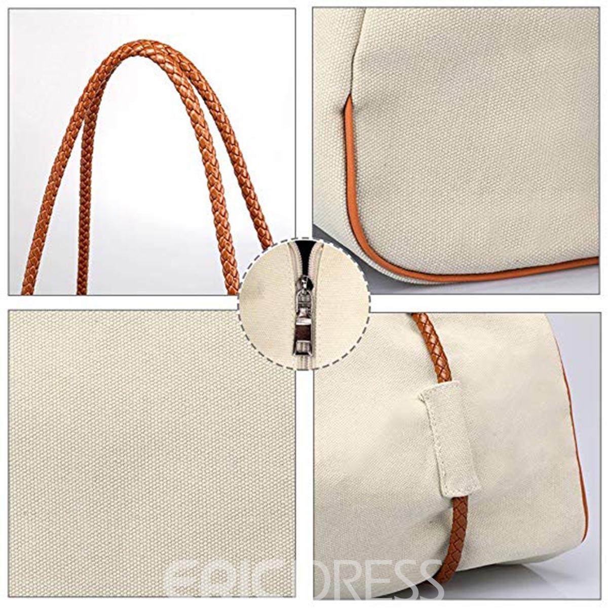 Ericdress Barrel Shaped Chain Medium Crossbody Bag