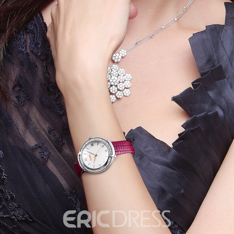 Ericdress Rhinestone Leather Watch Belt For women Watch