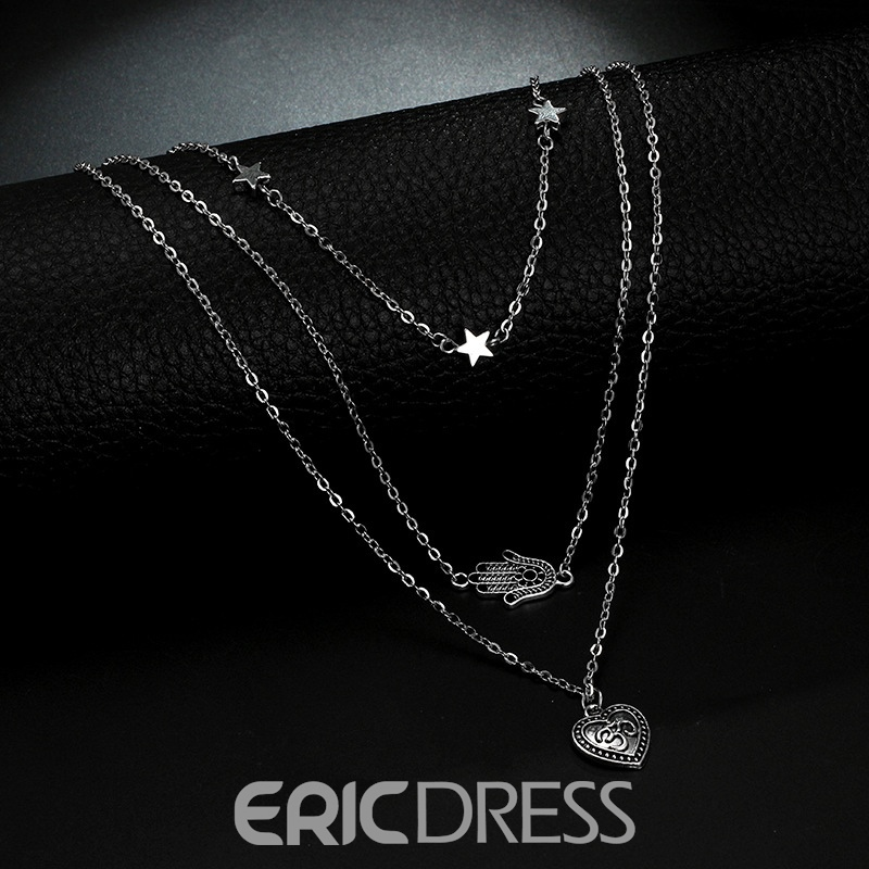 Ericdress Heart&Hug Charm Necklace