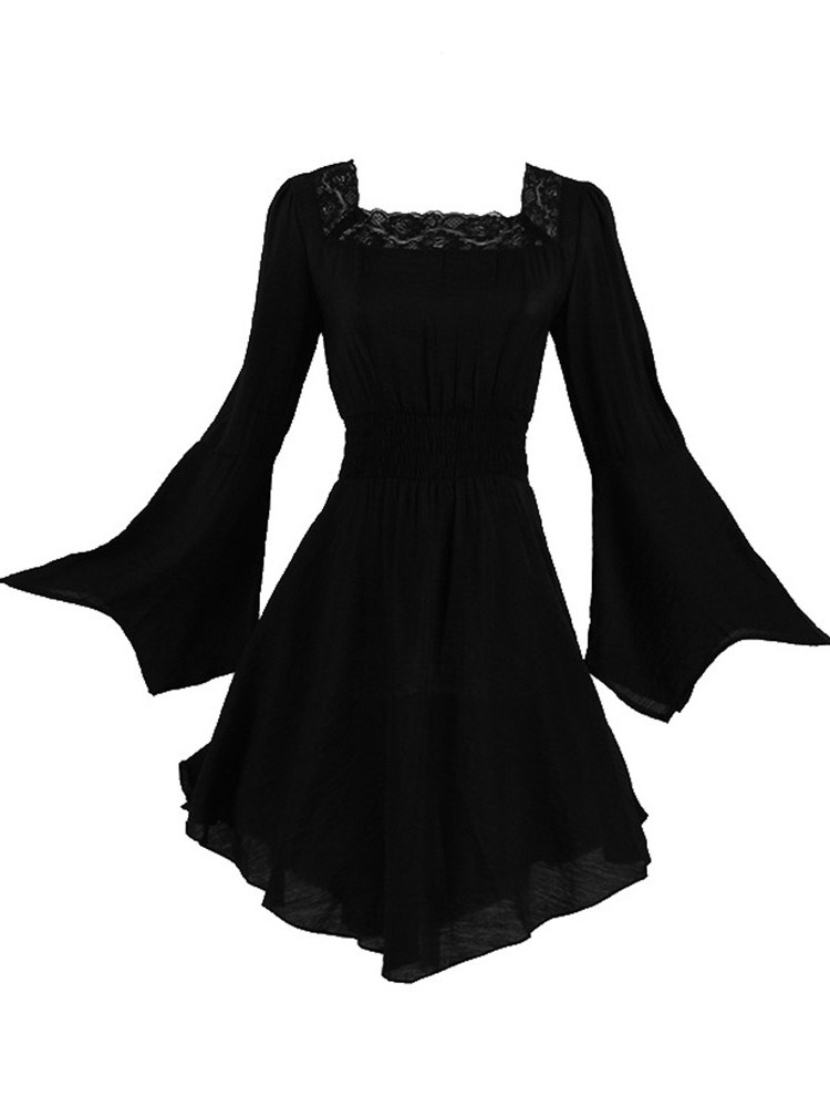 Ericdress Halloween Costume Lace Long Sleeve Mid-Length Blouse
