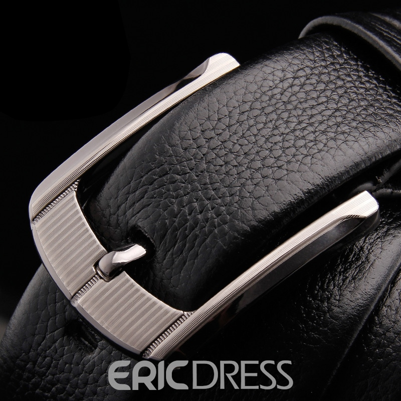 Ericdress Top Leather Pin Buckle Bussiness Men Belt