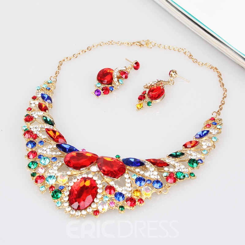 Ericdress Gems Luxurious Party Jewelry Set