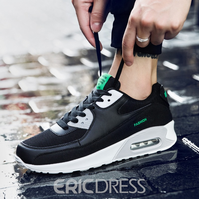 Ericdress Patchwork Low-Cut Upper Lace-Up Round Toe Men's Sneakers