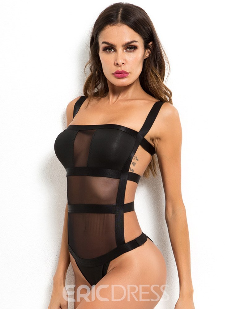 Ericdress Tight Wrap Spaghetti Strap Backless Sexy Teddy Bodysuit